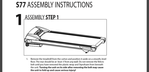 s77 assembly instructions